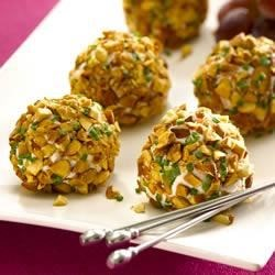 Almond Crusted Chevre and Grape Truffles Recipe