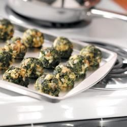 Photo of Makeover Garlic Spinach Balls by Amy Hornbuckle