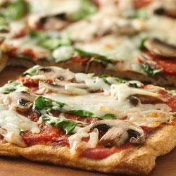 Grilled Spinach and Mushroom Pizza Recipe