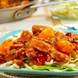 Pineapple-Picante Stir-Fried Pork and Cabbage Recipe