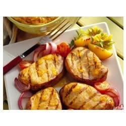 Peachy Mustard Pork Chops Recipe