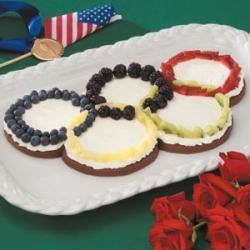 Photo of Olympic Rings Fruit Pizza by Taste of Home Test Kitchen