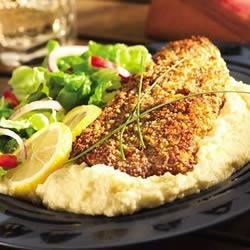 pecan crusted catfish with white cheddar grits review by