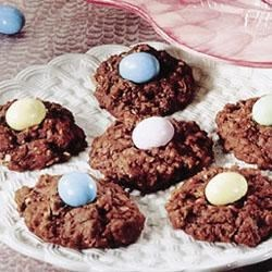 Cocoa-Coconut Oatmeal Nests Recipe