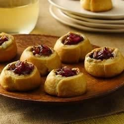 Blue Cheese and Red Onion Jam Crescent Thumbprints Recipe