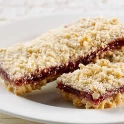 KELLOGG'S* RICE KRISPIES* Chewy Raspberry Streusel Bars Recipe