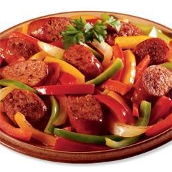 Johnsonville(R) Italian Sausage and Pepper Medley Recipe