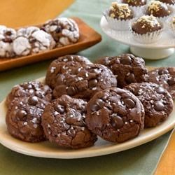 Chocolate Truffle Cookies with Sea Salt Recipe