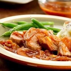 Orange Pork Tenderloins with Caramelized Onions Recipe