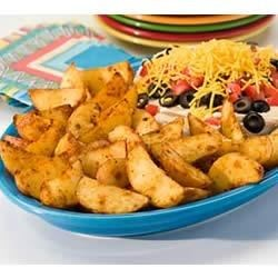 Baked Chipotle Potato Wedges with Layered Dip Recipe