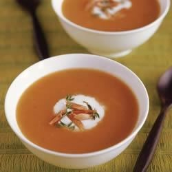 Curried Butternut Squash Soup with Almonds Recipe