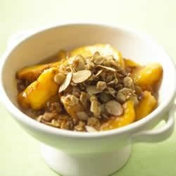 California Peach and Almond Crisp