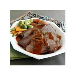 Burgundy Roast Beef with Savory Sauce Recipe