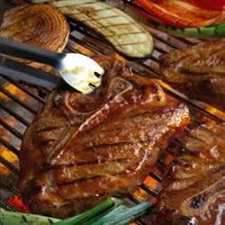 Barbecued Pork Steaks Recipe