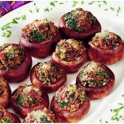 Jimmy Dean Sausage Spinach Stuffed Mushrooms Recipe