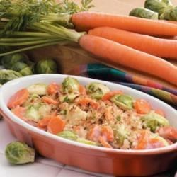 Photo of Spicy Brussels Sprouts and Carrots by Barbara Ferster