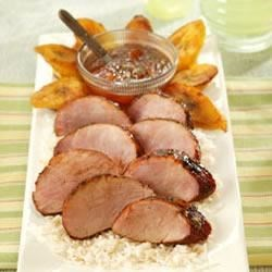 Chili Rubbed Pork Tenderloin With Apricot Ginger Glaze Recipe