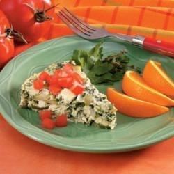 Photo of Crustless Mushroom-Spinach Quiche by Mary Ann Dell