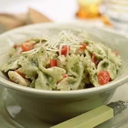 Photo of One-Pot Pasta with Tomatoes, White Beans and Pesto by Buitoni, courtesy of meals.com