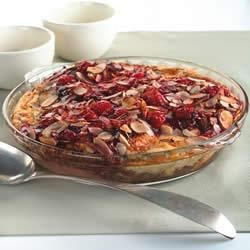 Cherry Chocolate Almond Croissant Bread Pudding Recipe