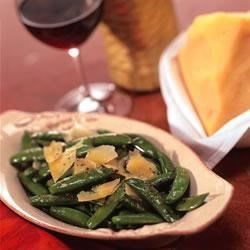 Sugar Snap Pea Parmigiano Recipe