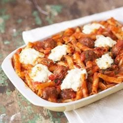 Cheesy Italian Meatball Casserole Recipe