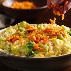 Creamy Cheese-Broccoli Rice Bake Recipe