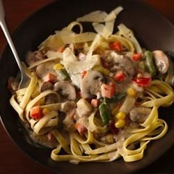 Mushroom-Vegetable Ragu with Fettuccine