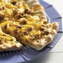 Photo of Breakfast Sausage Pizza by ARGO®,  KARO®  and FLEISCHMANN'S®