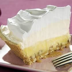 Triple-Layer Eggnog Pie Recipe