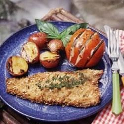 Trout with Almond-Herb Crust