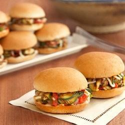 Grilled Veggie Sliders Recipe