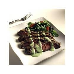 Dragon Fire Grilled Steak with Tangy Wasabi Recipe