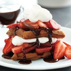 Breakfast Neapolitan Waffles Recipe