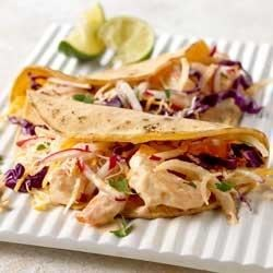 Photo of Creamy Grilled Shrimp Tacos by PHILADELPHIA Cooking Creme