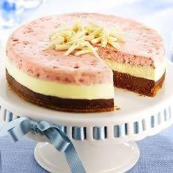 Photo of PHILLY Neapolitan Cheesecake by Philadelphia Cream Cheese