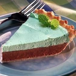 Chocolate Mint Mousse Pie