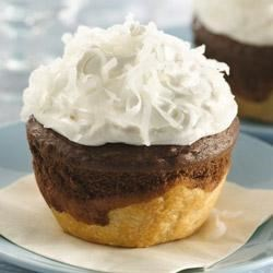 Photo of Chocolate-Coconut Jumbo Pie Cupcakes by Pillsbury®