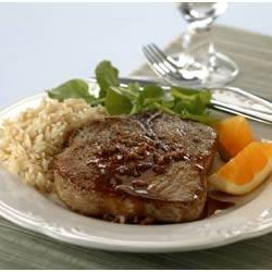 Braised Pork Chops with Orange-Mustard Sauce Recipe