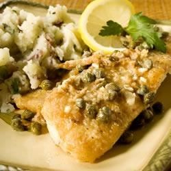 Tilapia with White Wine Caper Sauce Recipe