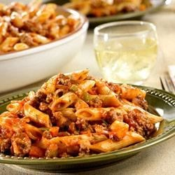Quick and Spicy Beef with Penne Recipe