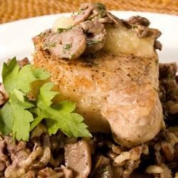 Pork Chops Sauteed with Mushrooms Recipe