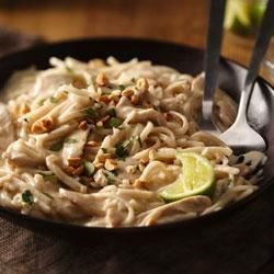Basil-Chicken Thai Noodles Recipe