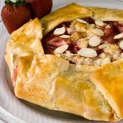 Rustic Strawberry-Almond Tart Recipe