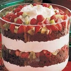 Photo of Chocolate and Fruit Trifle by Taste of Home's Fast Family Favorites