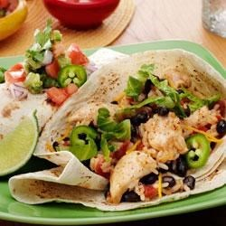 Speedy Chicken and Black Bean Burritos Recipe