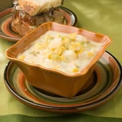 Cheesy Potato and Corn Chowder Recipe
