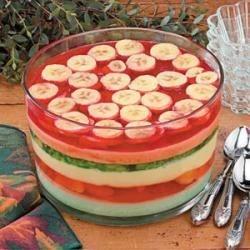 Photo of Six-Layer Gelatin Salad by Marcia  Orlando