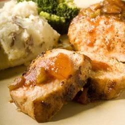 Pork Chops with Peach Picante Sauce