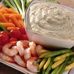 Creamy Pesto Dipping Sauce (For Veggies)